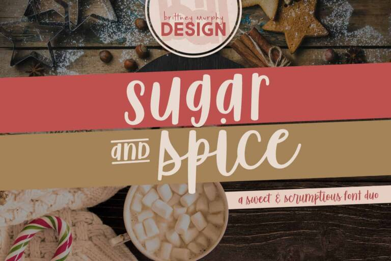 sugar spice font duo featured image