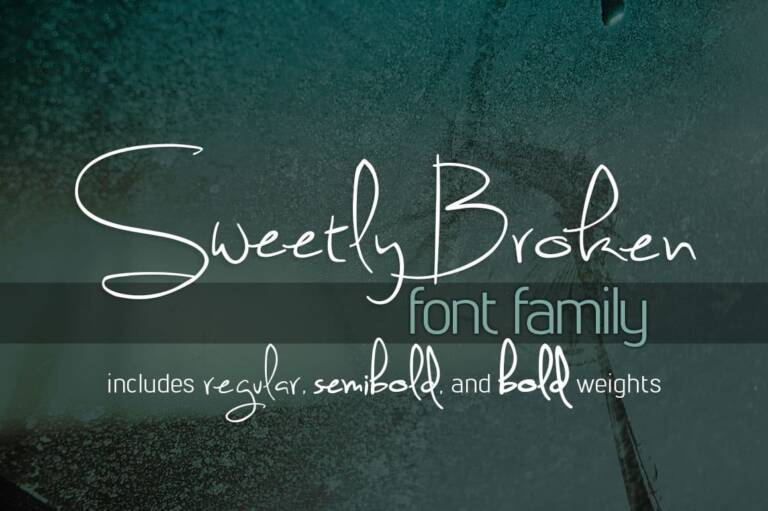 sweetly broken font family featured image