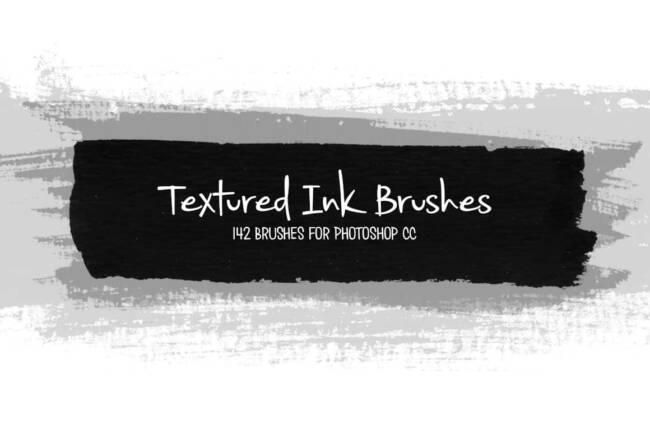 Photoshop Textured Ink Brushes