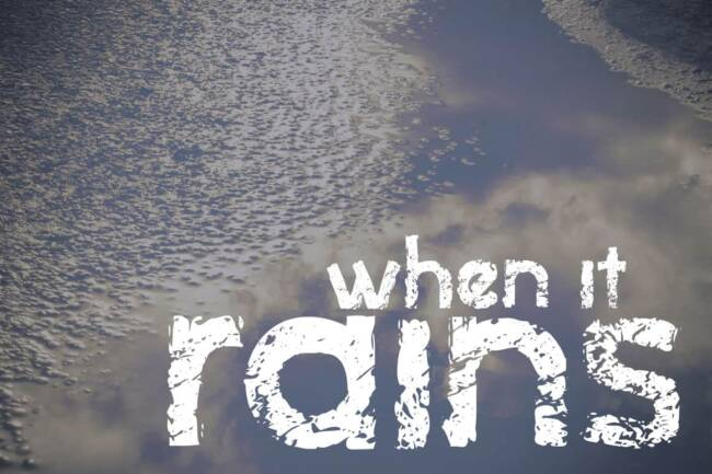 When It Rains Font