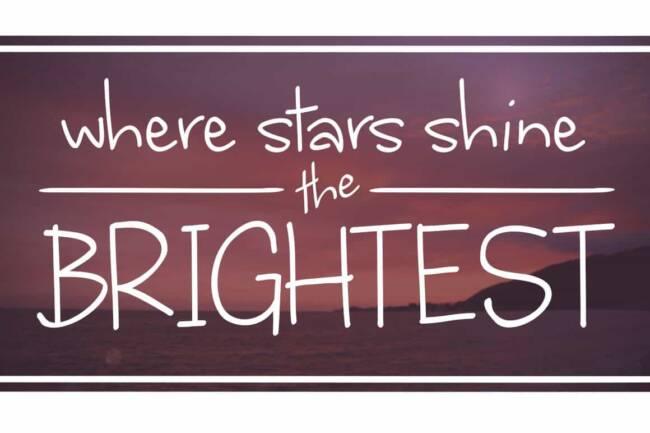Where Stars Shine the Brightest Font