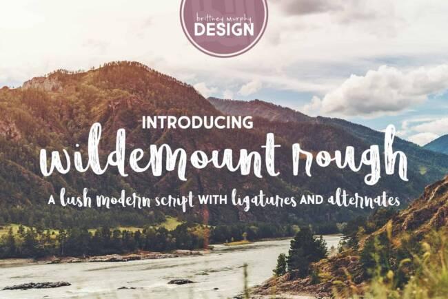 Wildemount Rough Font