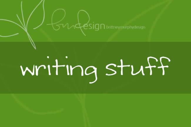 Writing Stuff Font