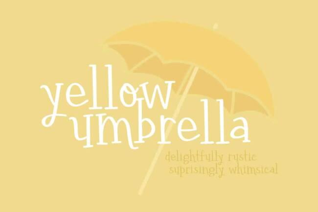 Yellow Umbrella Font