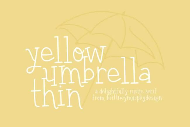 Yellow Umbrella Thin Font