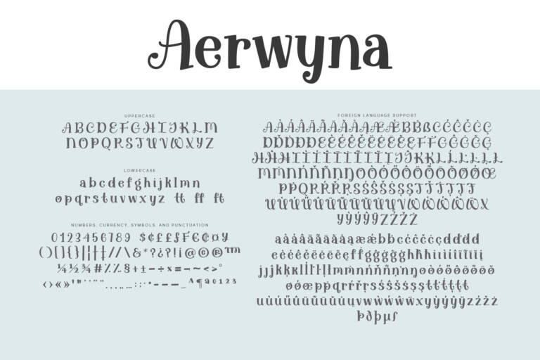 Aerwyna Regular-Letters