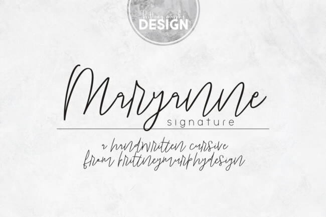 Maryanne Signature Title Regular