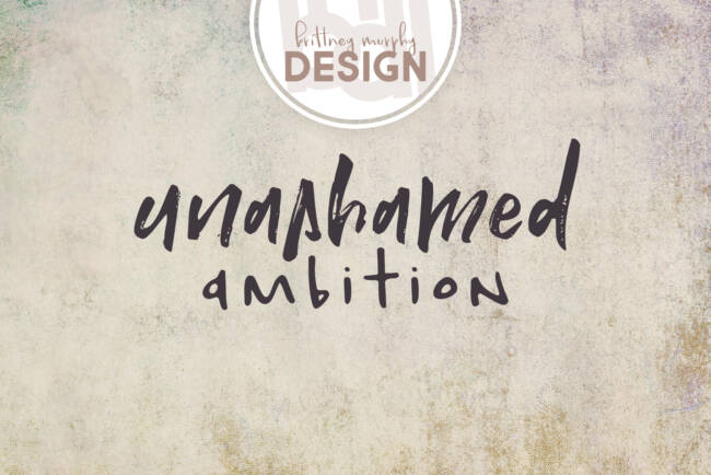 The Ambition Ink and Unashamed Font Pair