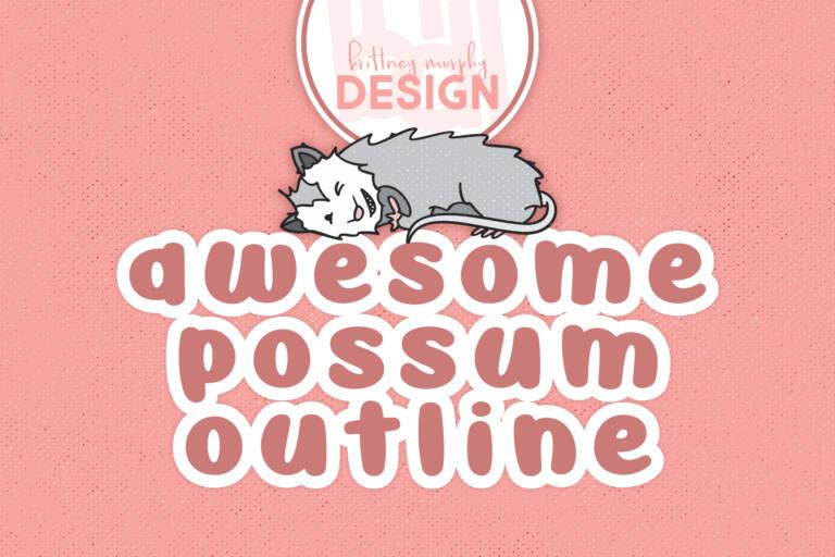 Awesome Possum Outline Regular Title