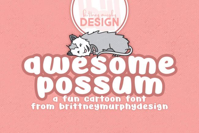 Awesome Possum Font