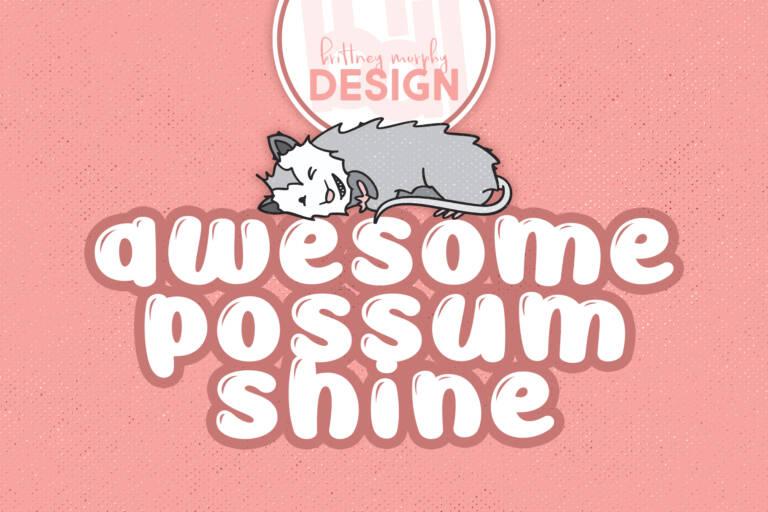 Awesome Possum Shine Regular Title