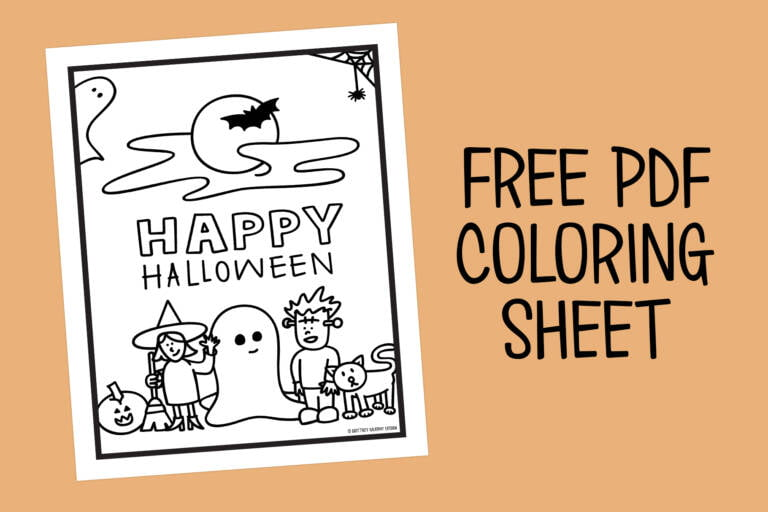 Halloween Graphics Coloring Sheet